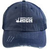 """Stay High"" Distressed Unstructured Trucker Cap"