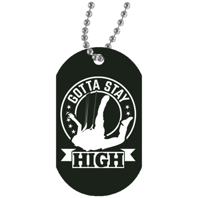 """Stay High"" White Dog Tag"