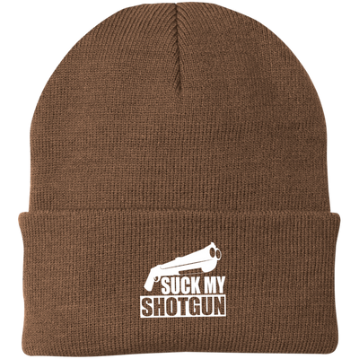 """Suck My Shotgun"" Knit Cap"