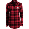 """Suck My Shotgun"" Ladies' Plaid Flannel Tunic"