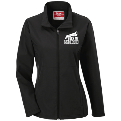 """Suck My Shotgun"" Ladies' Soft Shell Jacket"