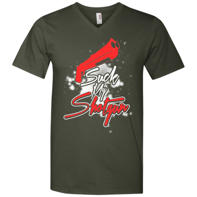 """Suck my Shotgun"" Men's V-Neck T-Shirt"