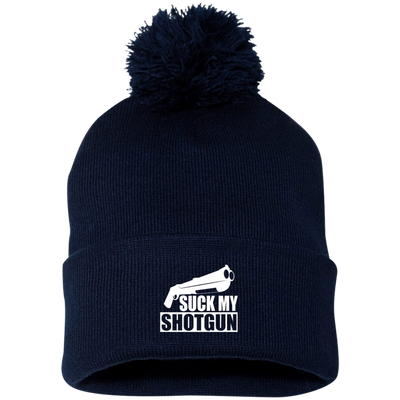 """Suck My Shotgun"" Pom Pom Knit Cap"