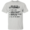 """Why are you Littering?"" Ultra Cotton T-Shirt"