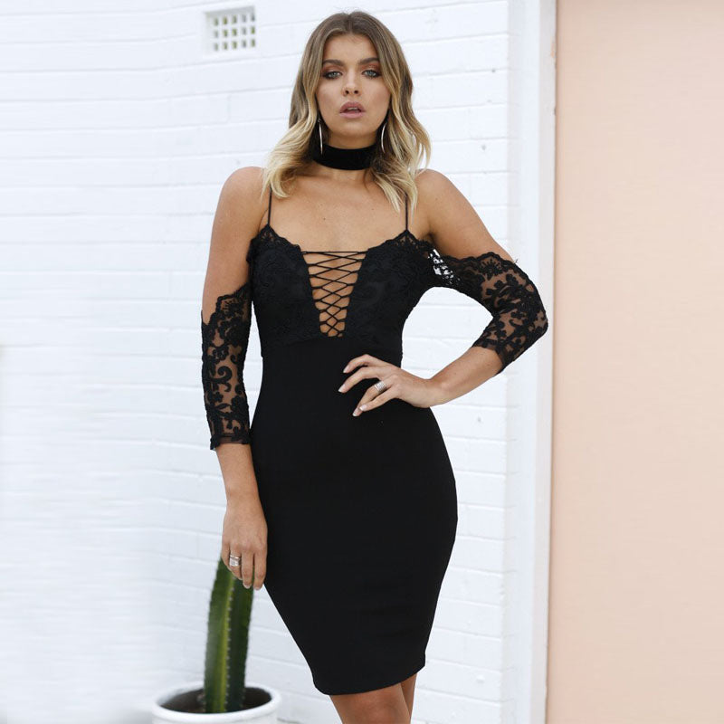 18b19024e2 Prosecco and Pink Balloons Party Plunge V Neck Dress – elegunce