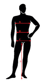 A Chest Measure just under your armpits and cross your shoulder blades f498e2b0e6