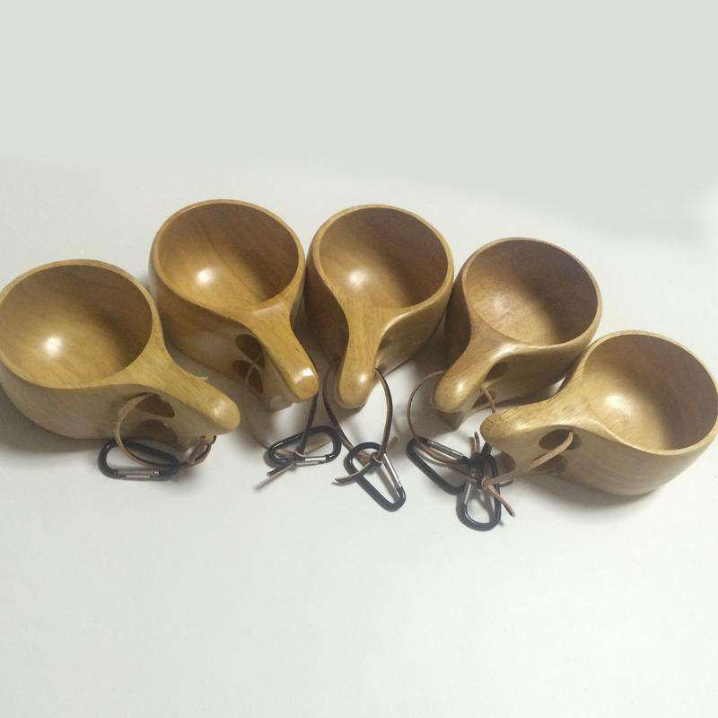 Lot de 6 tasses traditionnelles finlandaises (Kuksa) (Tasse) - MugLife