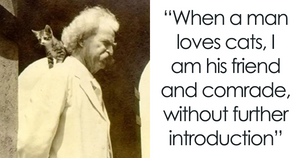 Vintage Photos Suggest Mark Twain Was Totally Obsessed With Cats