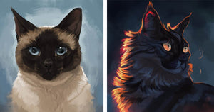 Stunning Personalized Pet Portraits Are Created By This Incredibly Talented Artist