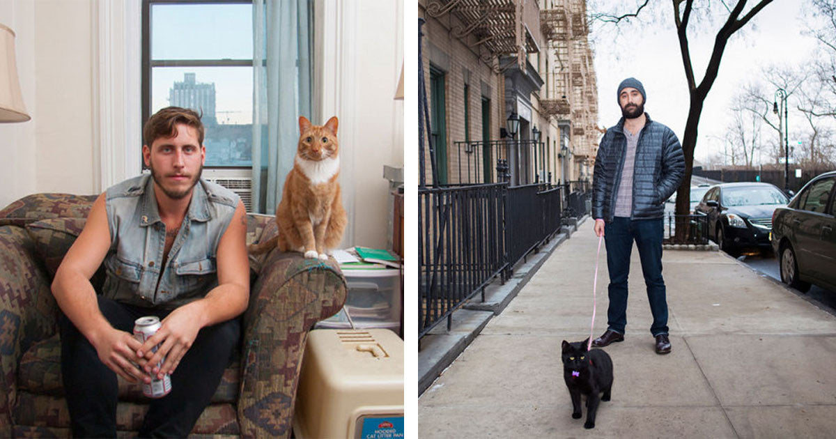Photographer Breaks 'Crazy Cat Lady' Stereotype With Series On 'Crazy Cat Men'