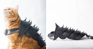 Guy Turns His Cat Into A Warrior Badass By 3D Printing Him Battle Armor