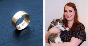 Cat Owner Found A Strangers Engraved Wedding Ring When Her Cat Threw Up