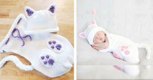 Crocheted Cat Cocoons Are So Cute, Everyone Needs One For Their Newborn Baby