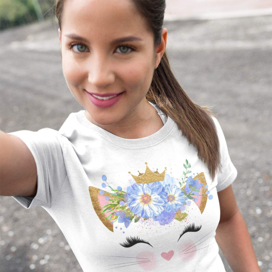 Flower Crown Short-Sleeve T-Shirt - Cats On Catnip