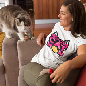 Rescue Cat Mom T-Shirt - Cats On Catnip