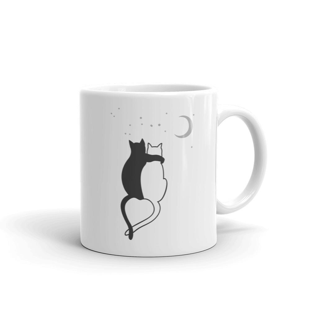Cat Love In The Moonlight - Mug - Cats On Catnip