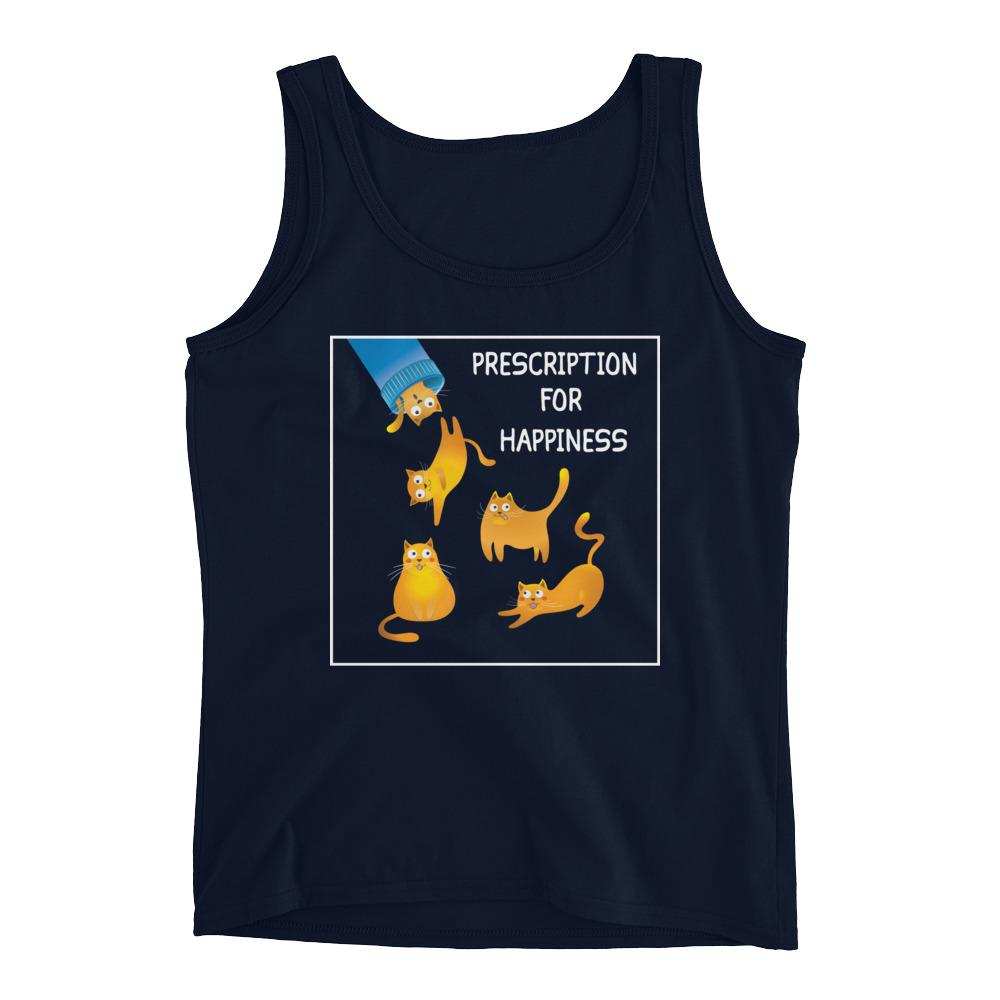 Prescription For Happiness - Tank Top - Cats On Catnip