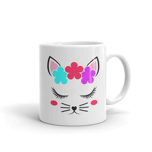 Beautiful Flower Cat With Rosy Cheeks - Mug - Cats On Catnip