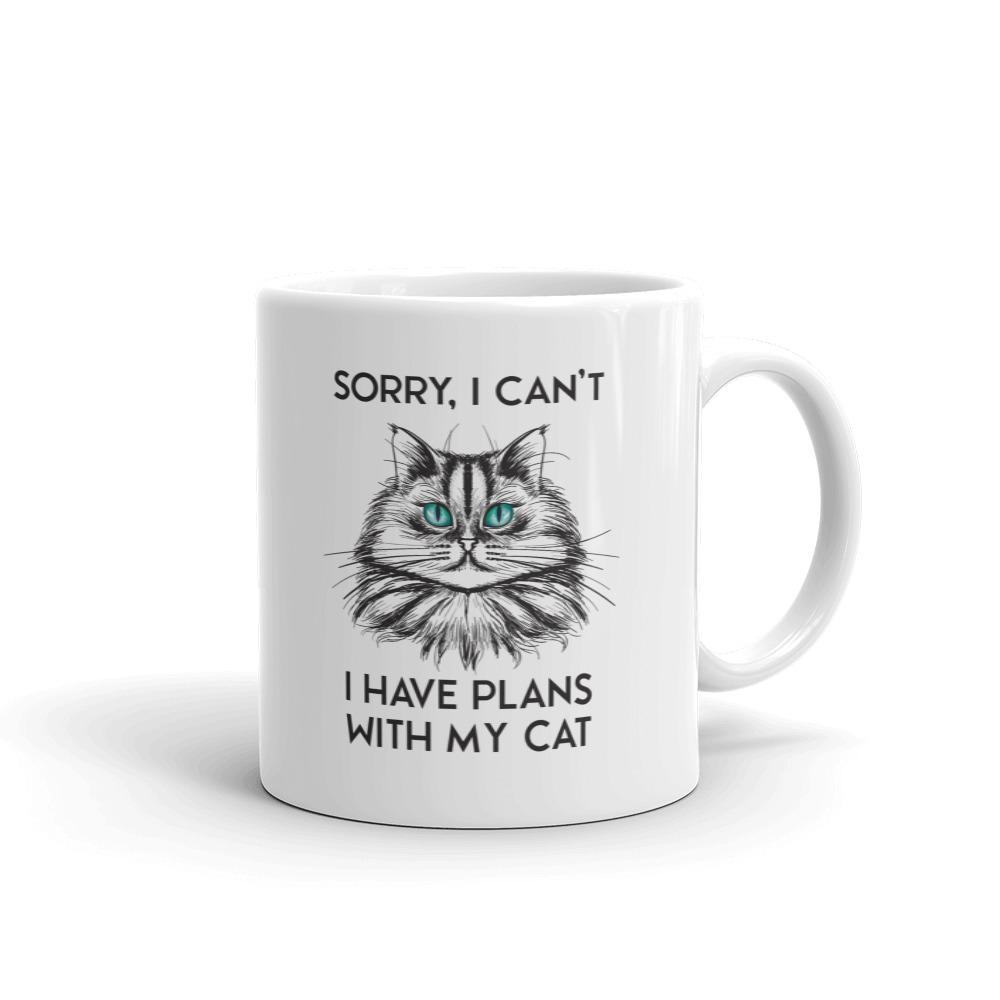 Sorry I Can't, I Have Plans With My Cat - Mug - Cats On Catnip