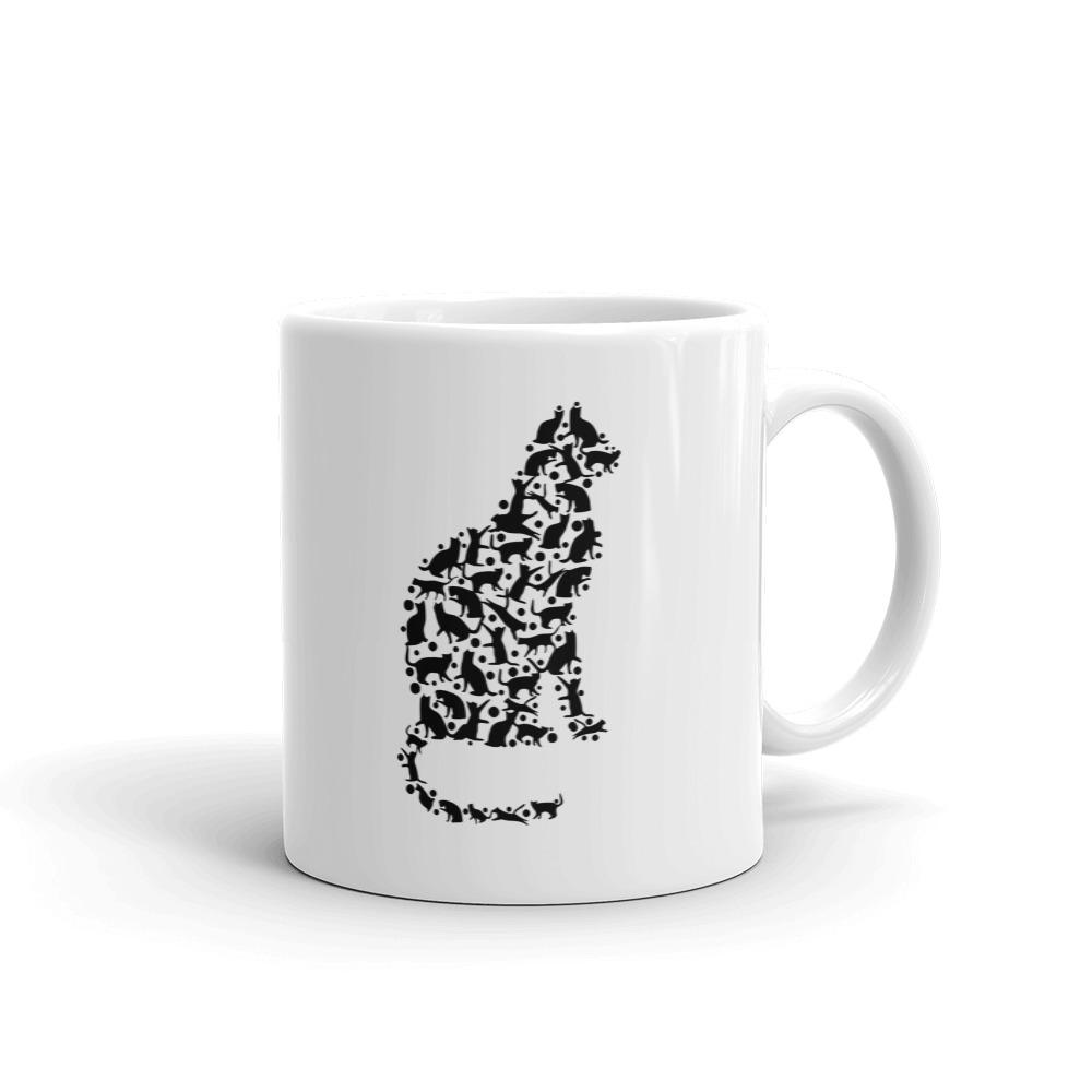 When You Love Cats So Much, You'll Wear A Cat Made of Cats - Mug - Cats On Catnip