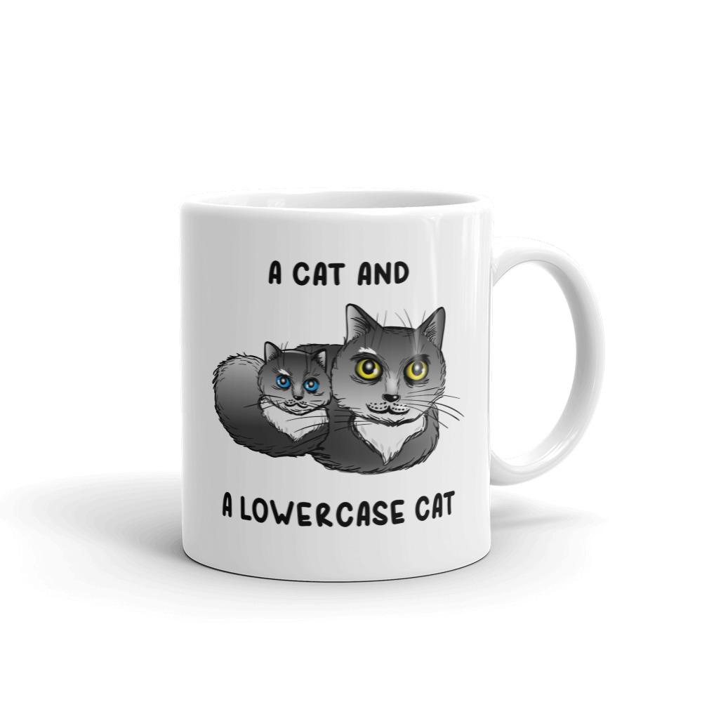 An Uppercase Cat and a Lowercase Cat - Mug - Cats On Catnip