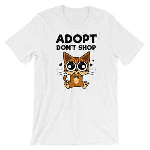 Adopt Don't Shop T-Shirt - Cats On Catnip
