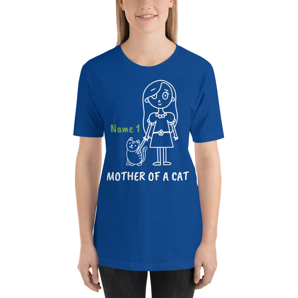 1 Cat - Mother Of A Cat Personalized T-Shirt - Cats On Catnip
