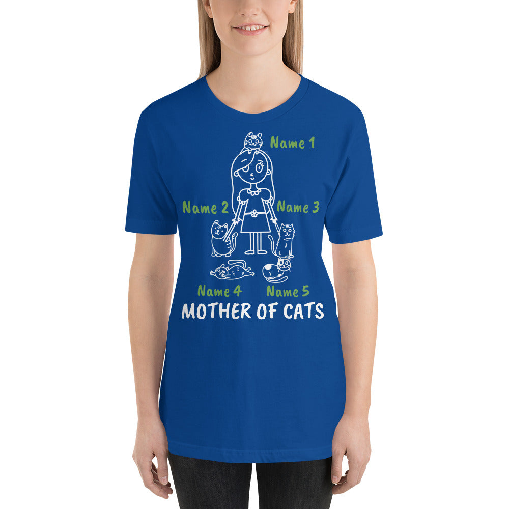 5 Cats - Mother Of Cats Personalized T-Shirt - Cats On Catnip