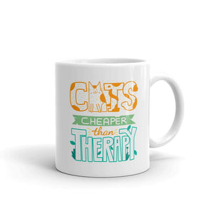 Cats Cheaper Than Therapy - Mug - Cats On Catnip
