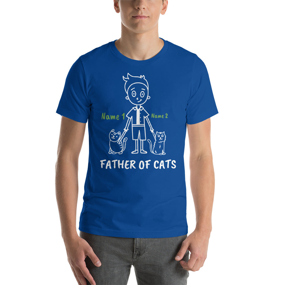 2 Cats - Father Of Cats Personalized T-Shirt - Cats On Catnip