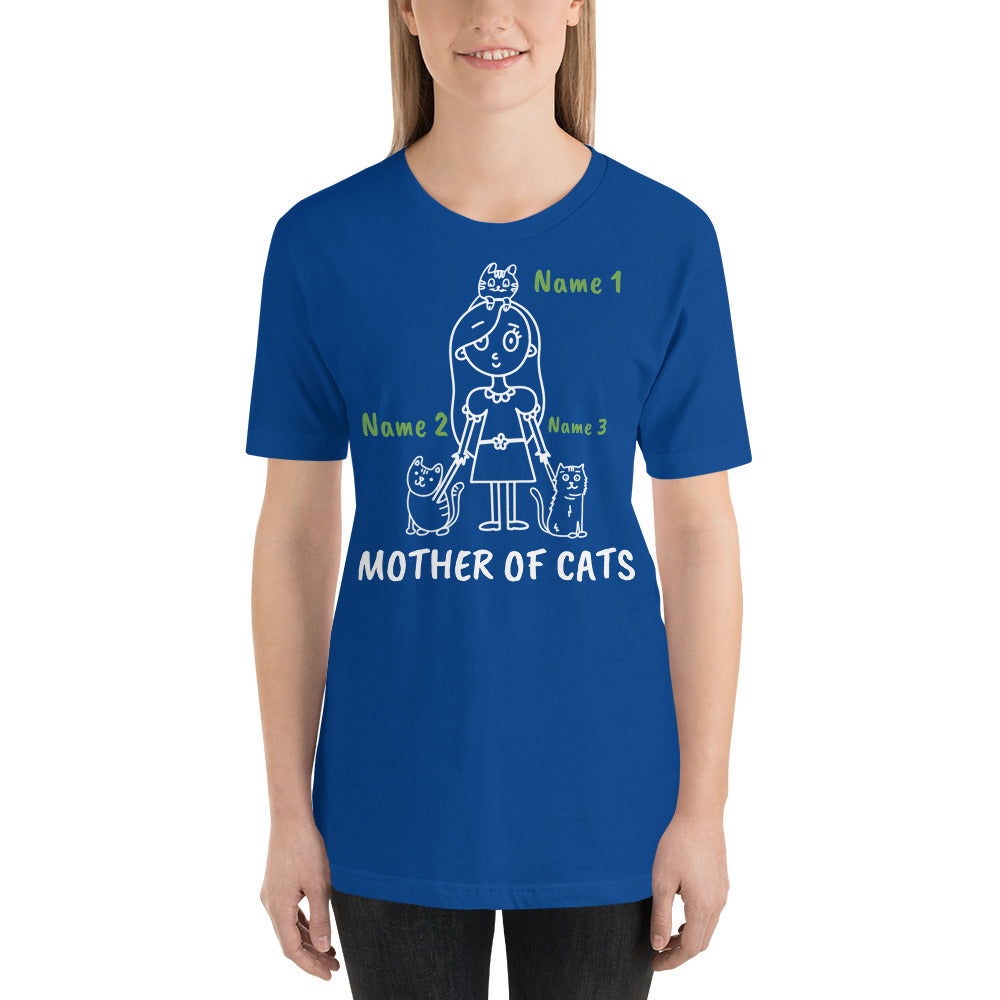 3 Cats - Mother Of Cats Personalized T-Shirt - Cats On Catnip