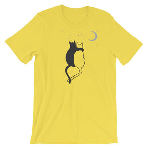 Cat Love In The Moonlight - T-Shirt - Cats On Catnip
