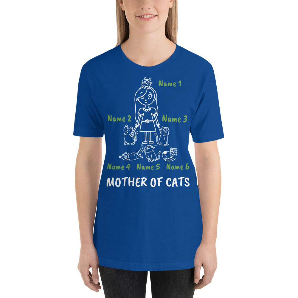 6 Cats - Mother Of Cats Personalized T-Shirt - Cats On Catnip