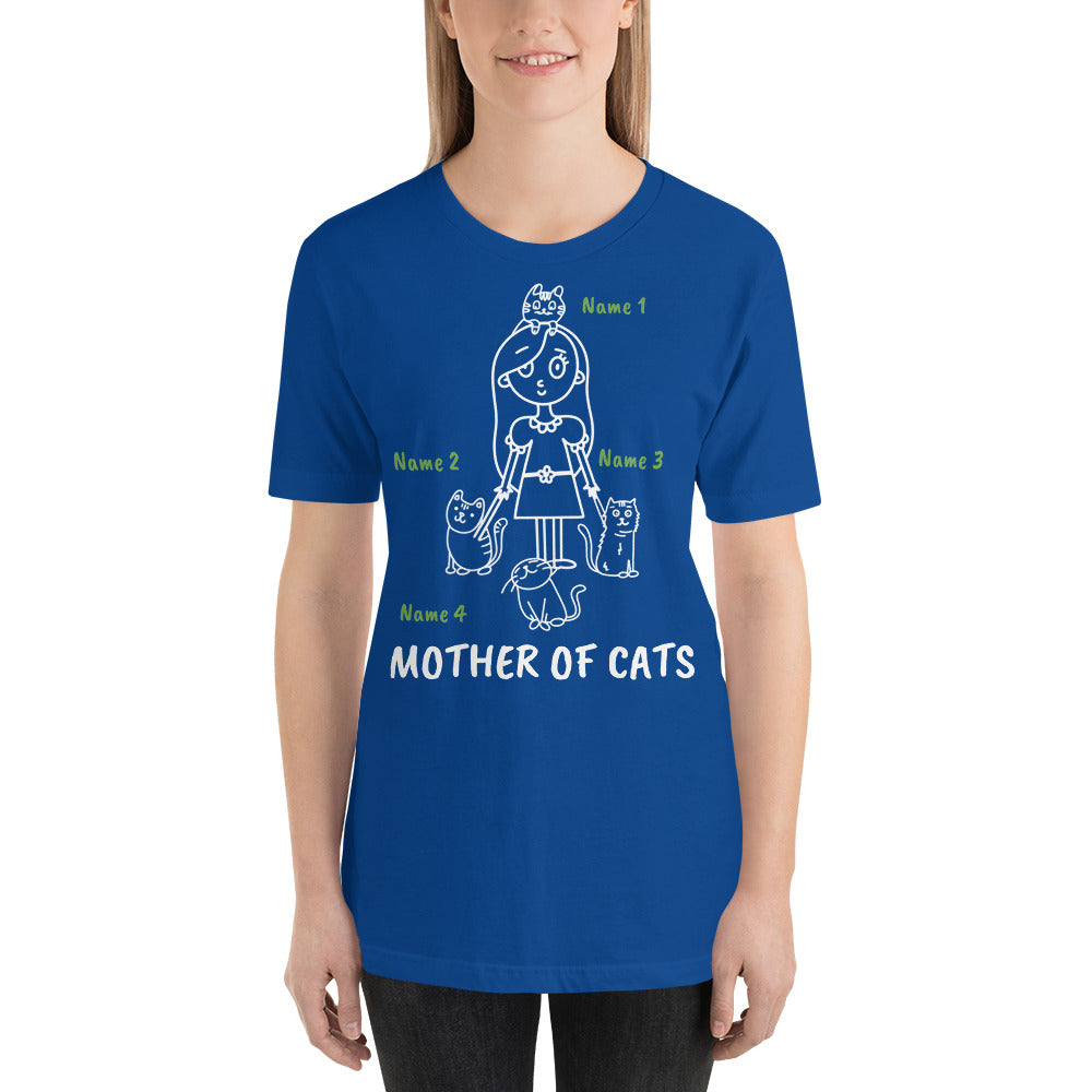 4 Cats - Mother Of Cats Personalized T-Shirt - Cats On Catnip