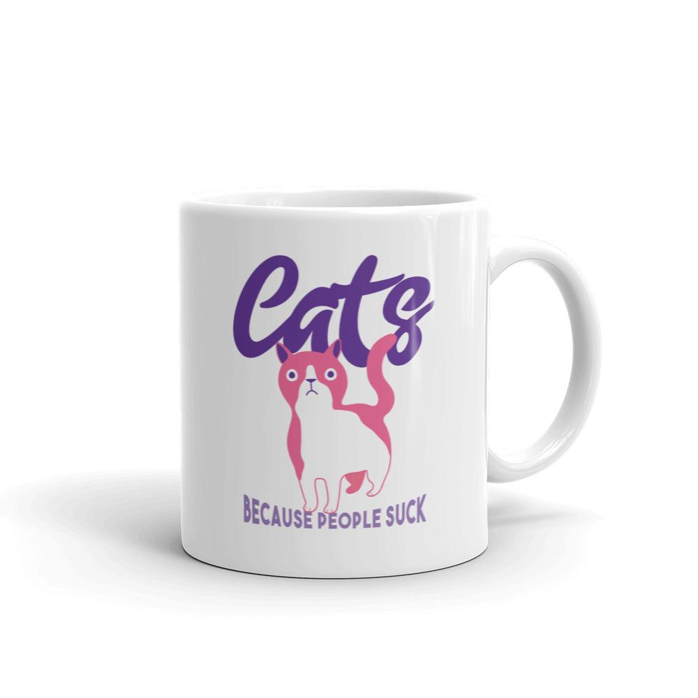 Cats, Because People Suck - Mug - Cats On Catnip
