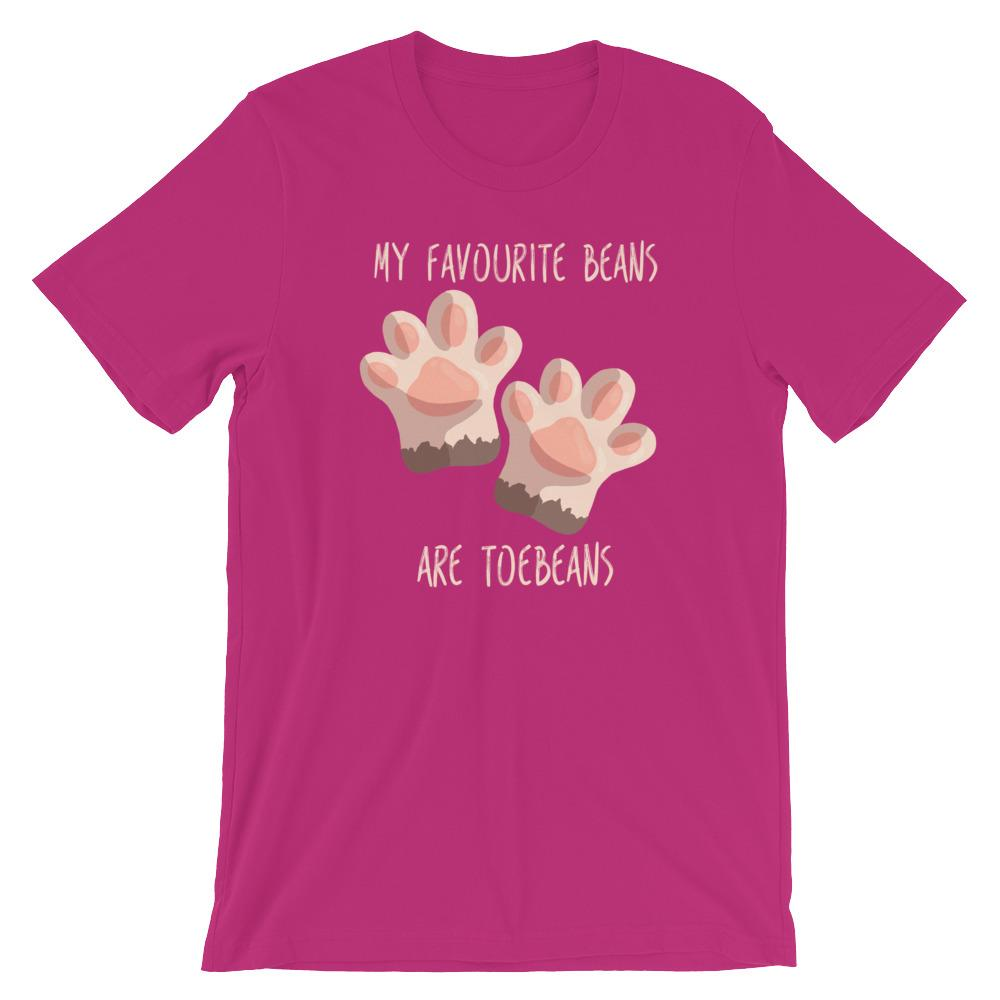 My Favourite Beans Are Toebeans - T-Shirt - Cats On Catnip