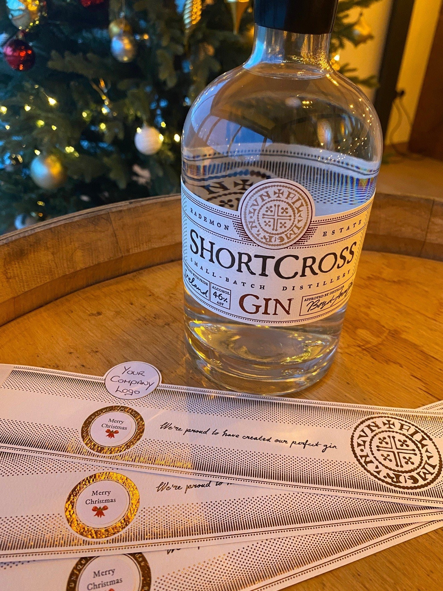 Personalised Bottle of Shortcross Gin (70cl)