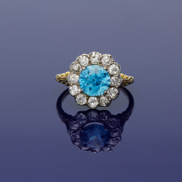 antique rings aquamarine