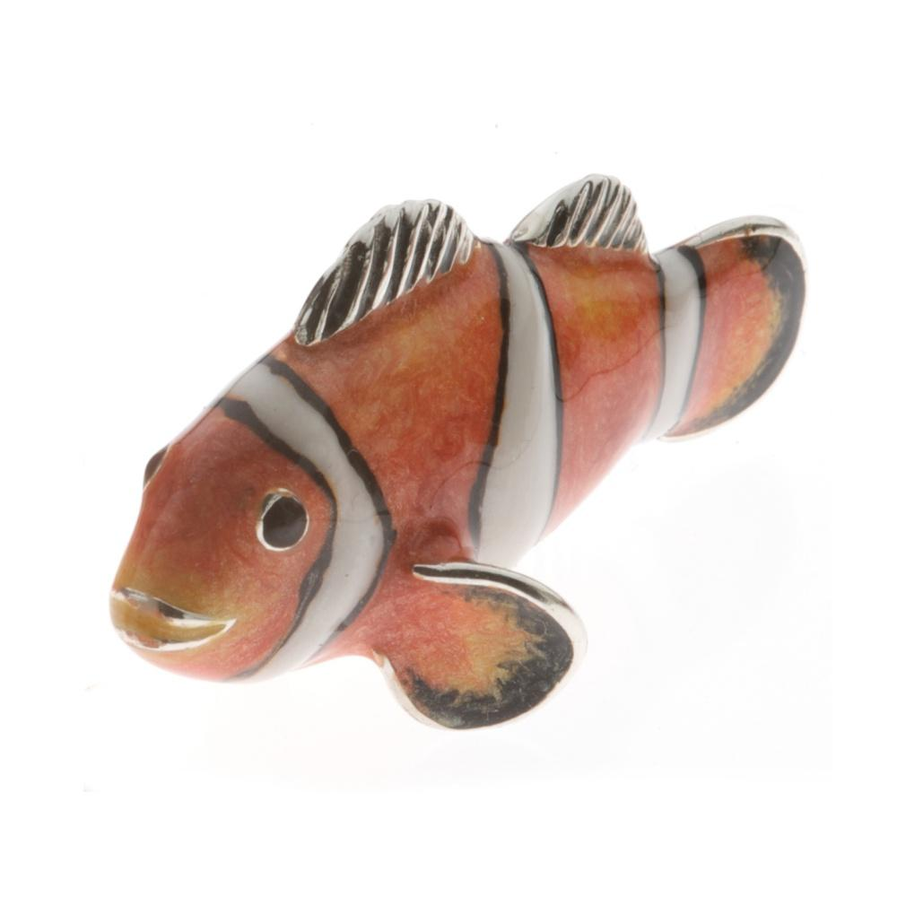 Silver Enamel Clown Fish - Medium