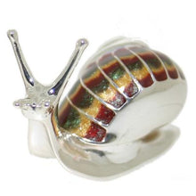 Silver Enamel Snail - Medium
