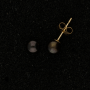 5.5mm Black Akoya Pearl 9ct Stud Earrings