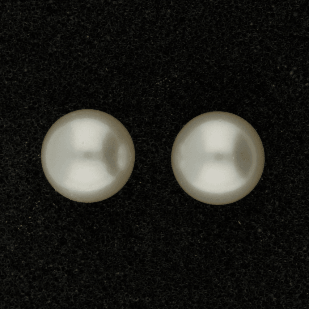 10.5-11mm Southsea Pearl Stud 18ct Yellow Gold Earrings
