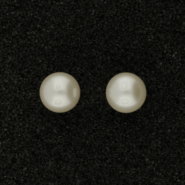 18ct White Gold 6.5-7mm White Akoya Pearl Earrings