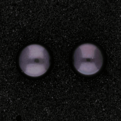 10mm Black Fresh Water Pearl 9ct Stud Earrings