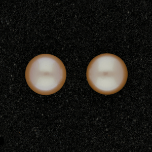 9mm Pink Fresh Water Pearl 9ct Stud Earrings