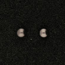 5-5.5mm Black Fresh Water Pearl & 18ct Stud Earrings