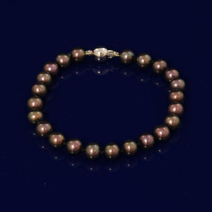 7-7.5mm Black Fresh Water Pearl Bracelet