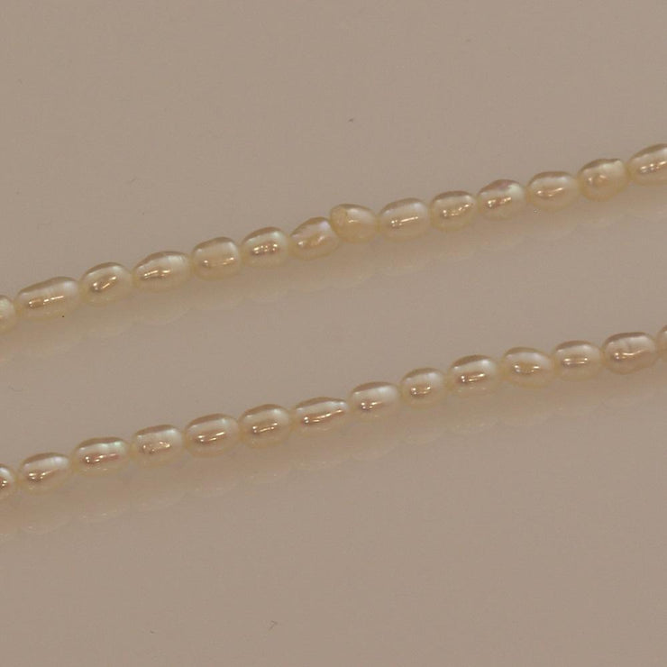 2mm White Fresh Water Pearl Necklace