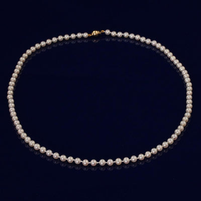 4-5mm White Fresh Water Pearl Necklace