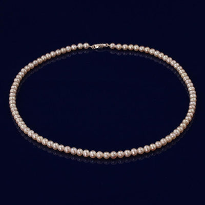 4.5-5mm White Fresh Water Pearl Necklace